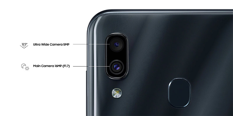 Dual-camera Samsung Galaxy A30