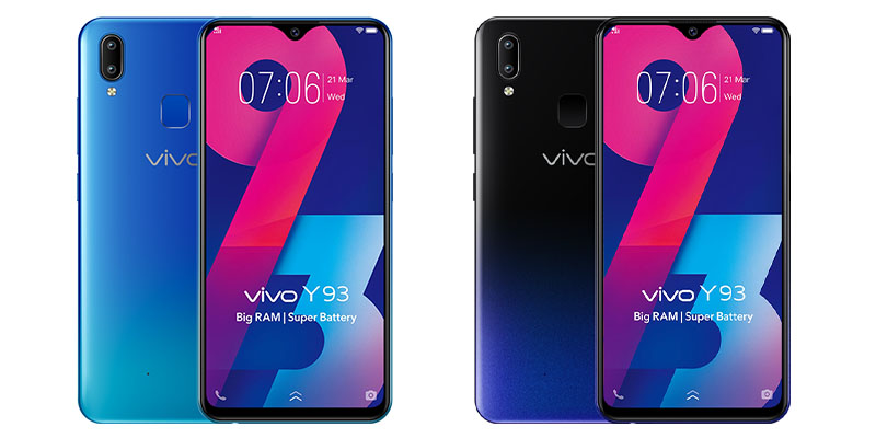 Vivo Y93 Black dan Blue