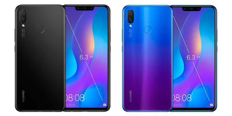 Huawei Nova 3i Iris Purple dan Black